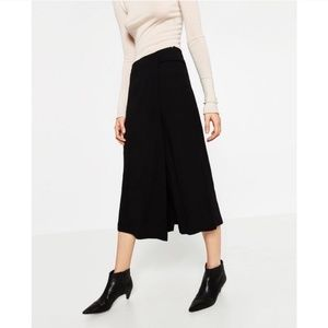 ZARA - black culotte trousers with belt